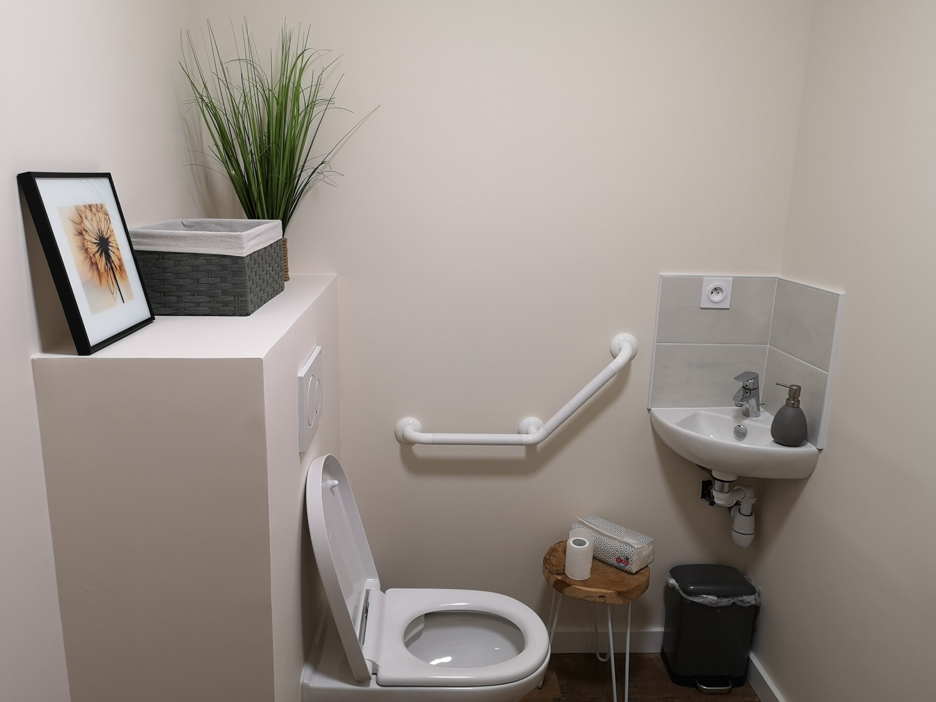 creation d'un toilette de type pmr